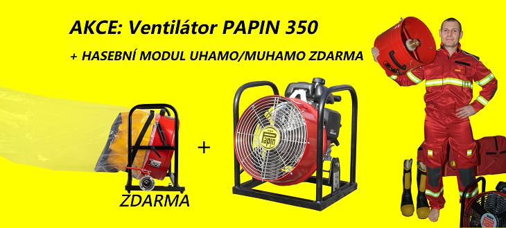 AKCE: Nejlepší ventilátory PAPIN včetně hasebních modulů ZDARMA!