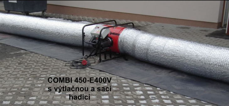 Kombinované ventilační zařízení(PPV+NPV) s elektrickým pohonem
